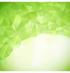 green abstract triangles background vector image