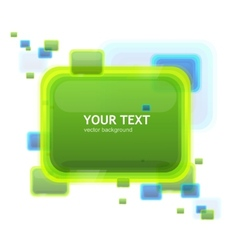 Green speech template tor your text vector
