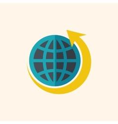 Green World Flat Icon vector