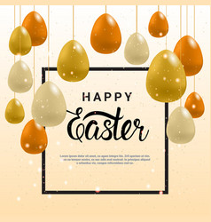 happy easter greeting card background template vector image
