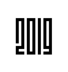 happy new year 2019 typography vector image