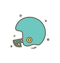 Helmet cricket playing icon design vector