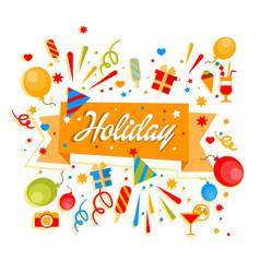 holiday anniversary card vector image