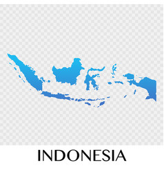 Indonesia map in asia continent design vector