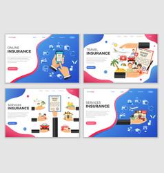 Insurance services templates vector