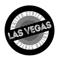 Las vegas typographic stamp vector