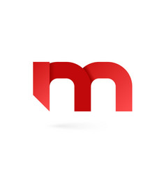 letter m logo on white alphabet background vector image