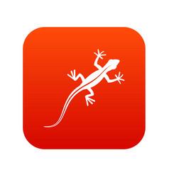 lizard icon digital red vector image