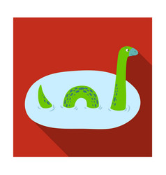 Loch ness monster icon in flat style isolated on vector
