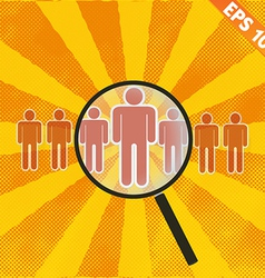 Magnifier Enlarges human - - EPS10 vector image