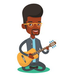 man playing acoustic guitar vector image