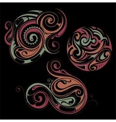 Maori style ornaments vector image
