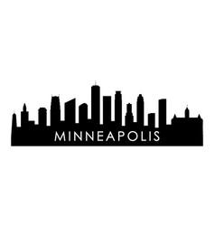 Minneapolis skyline silhouette black minneapolis vector