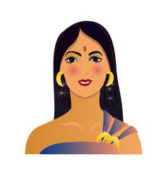 Modern avatar beautiful indian woman vector