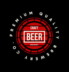 modern craft beer drink logo sign for bar pub vector image