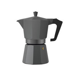 Moka pot realistic traditional italian coffee vector