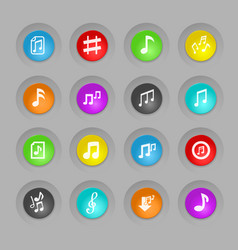 musical notes icon set vector image