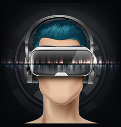 optical head-mounted display vector image