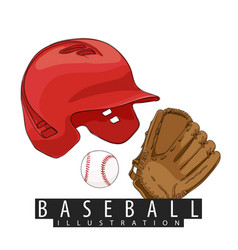 Outfit for baseball vector