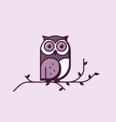 owl line style vector image