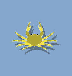 paper sticker on background of crab vector image