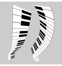 Piano keys for design vector