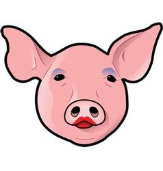 pig with lipstick vector image