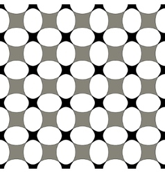 Polka dot and square seamless pattern vector image