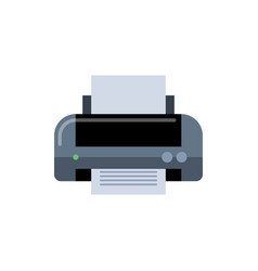 printer simple in flat style vector image