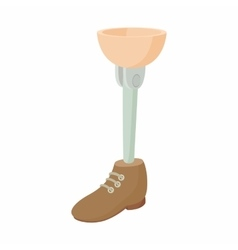 Prosthetic leg icon cartoon style vector
