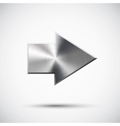 Right metal arrow vector