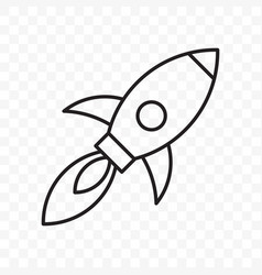 rocket thin line start up launch icon vector image