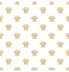 Roman column pattern cartoon style vector