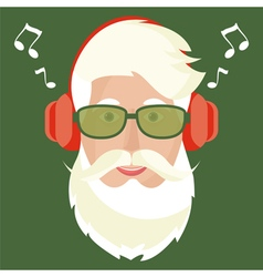 Santa Claus face icon vector image