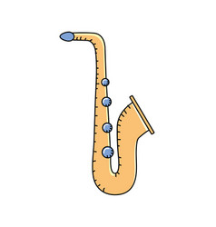Saxophone musical instrument to play music vector