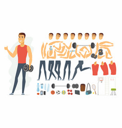 Sportsman - cartoon people character vector