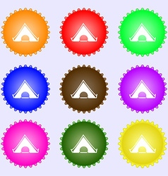 The tent icon sign Big set of colorful diverse vector image