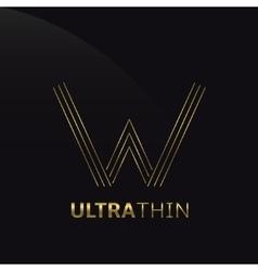 ultrathin w letter vector image