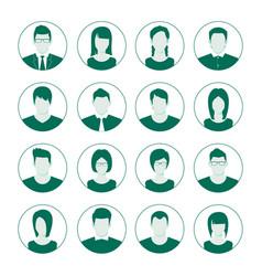 user account avatar portrait icon set man vector image