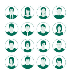 user account avatar user portrait icon set man vector image
