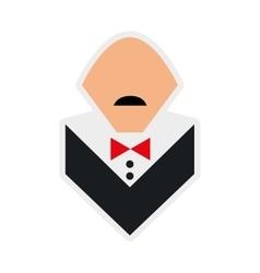 Waiter cartoon icon menu and food design vector