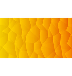 warm orange trendy low poly backdrop design vector image