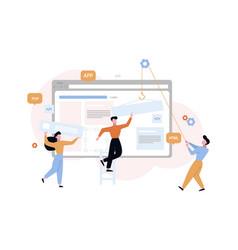 website development construction concept vector image