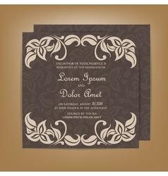 Wedding invitation dark vector