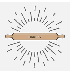 Wooden rolling pin plunger bakery tool shinging vector image