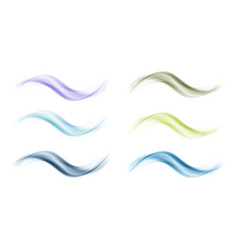 abstract colored wave set on white background vector image vector image