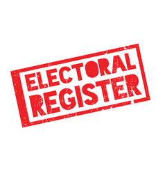 Electoral register rubber stamp vector