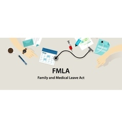 FMLA Family and Medical Leave Act vector image