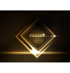 Golden glowing frame vector image vector image