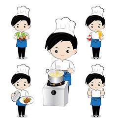 Little boy chef vector image vector image